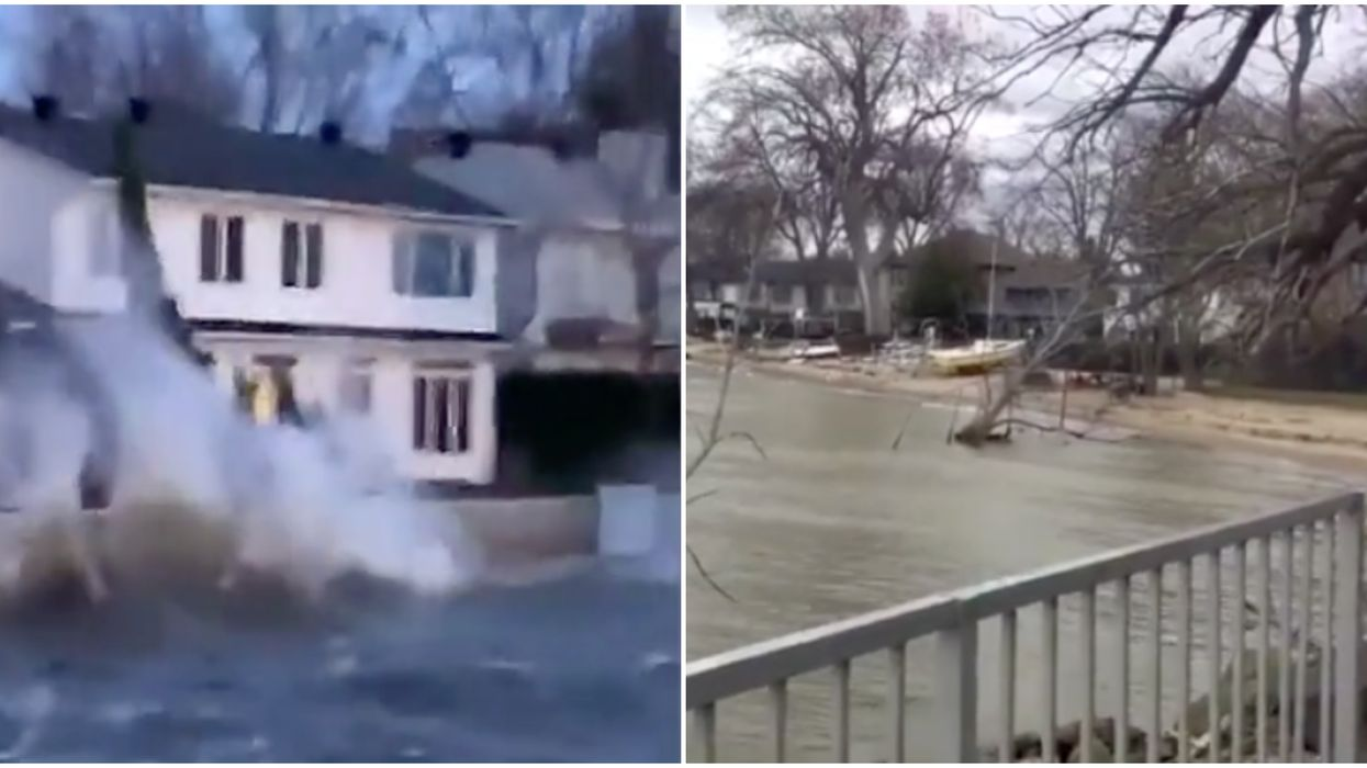Ontario Weather Caused Power Outages & Flooding Yesterday (VIDEOS)
