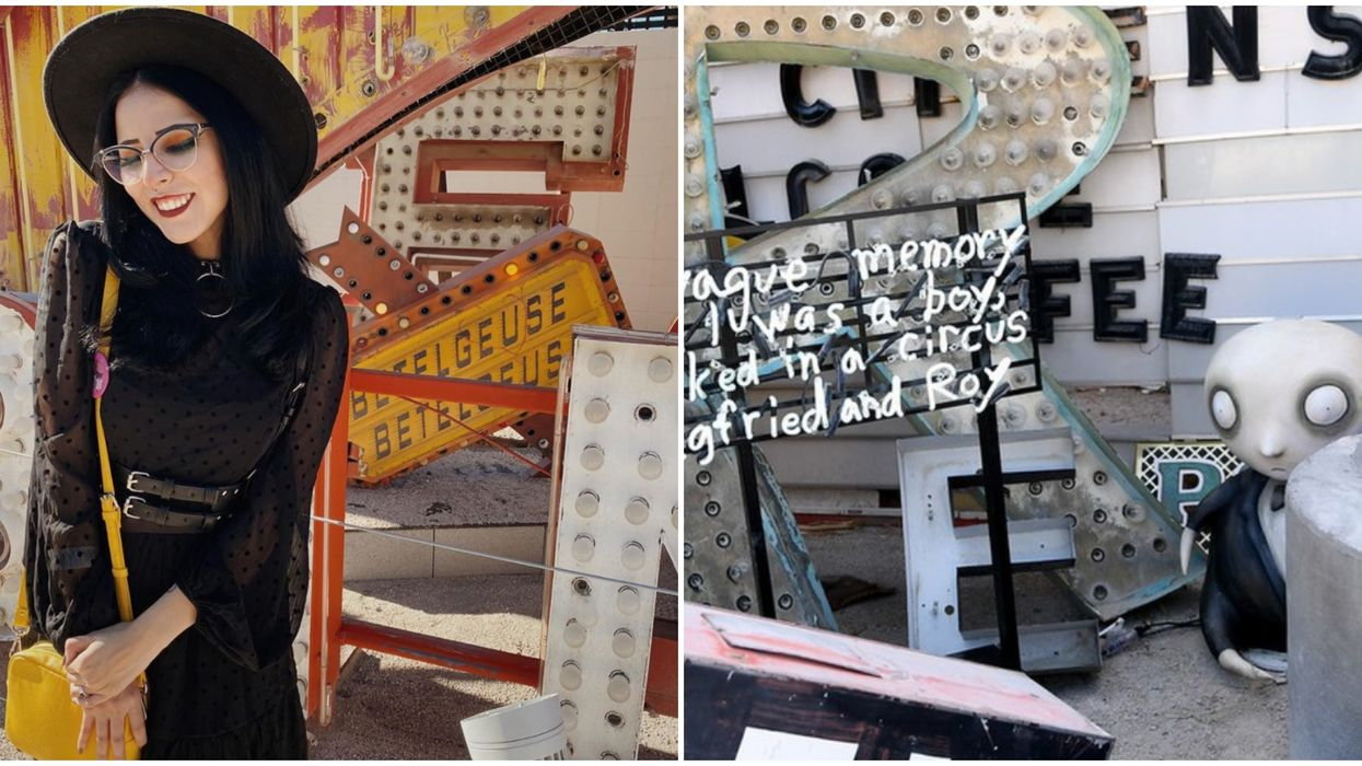 Neon Museum In Las Vegas Featured A Virtual Tour Of Tim Burton's Exhibit