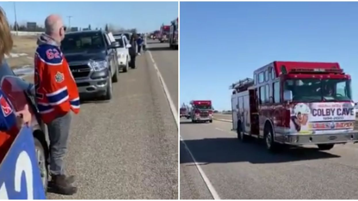 Colby Cave's Memorial For Edmonton Oilers Player Was A Line Of Cars 15 km Long
