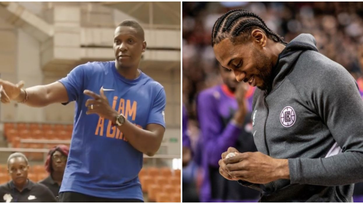 Masai Ujiri Just Joked That His Son Is Going To Marry Kawhi's Daughter