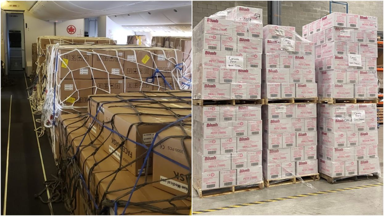 Canada Just Received Millions Of Medical Supplies For Our Frontline Workers