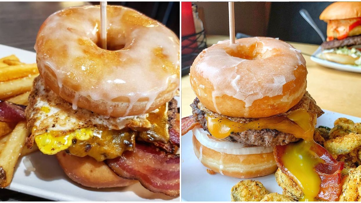 Crave Real Burgers In Denver Serves Donuts In Place Of Buns