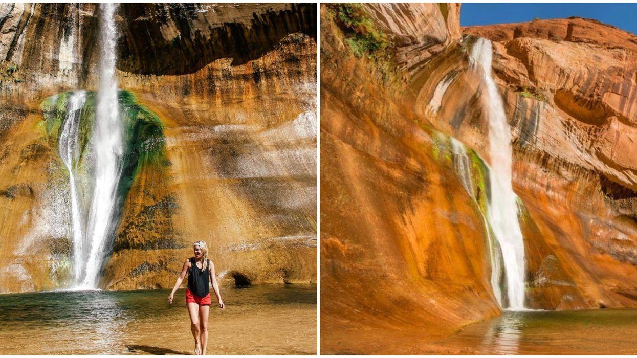 Calf Creek Falls In Utah Is Home To A Mammoth Crystal Waterfall