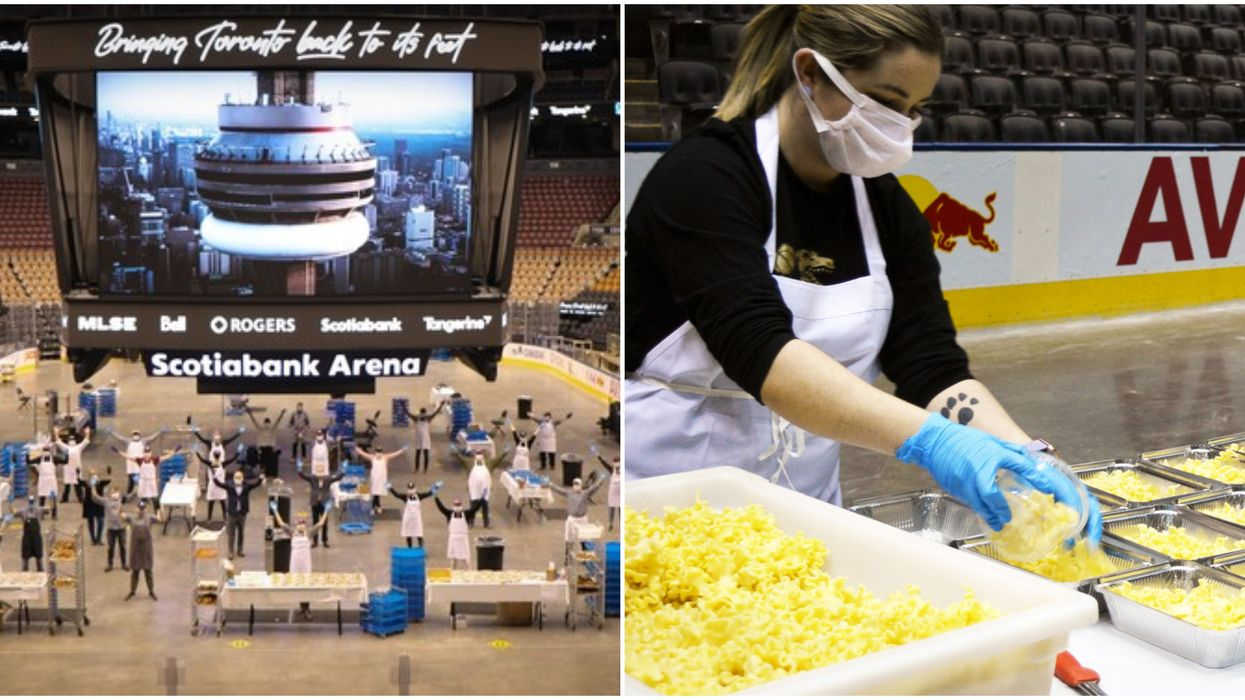 Scotiabank Arena's Meal Program Is Turning The Venue Into A Giant Kitchen (PHOTOS)