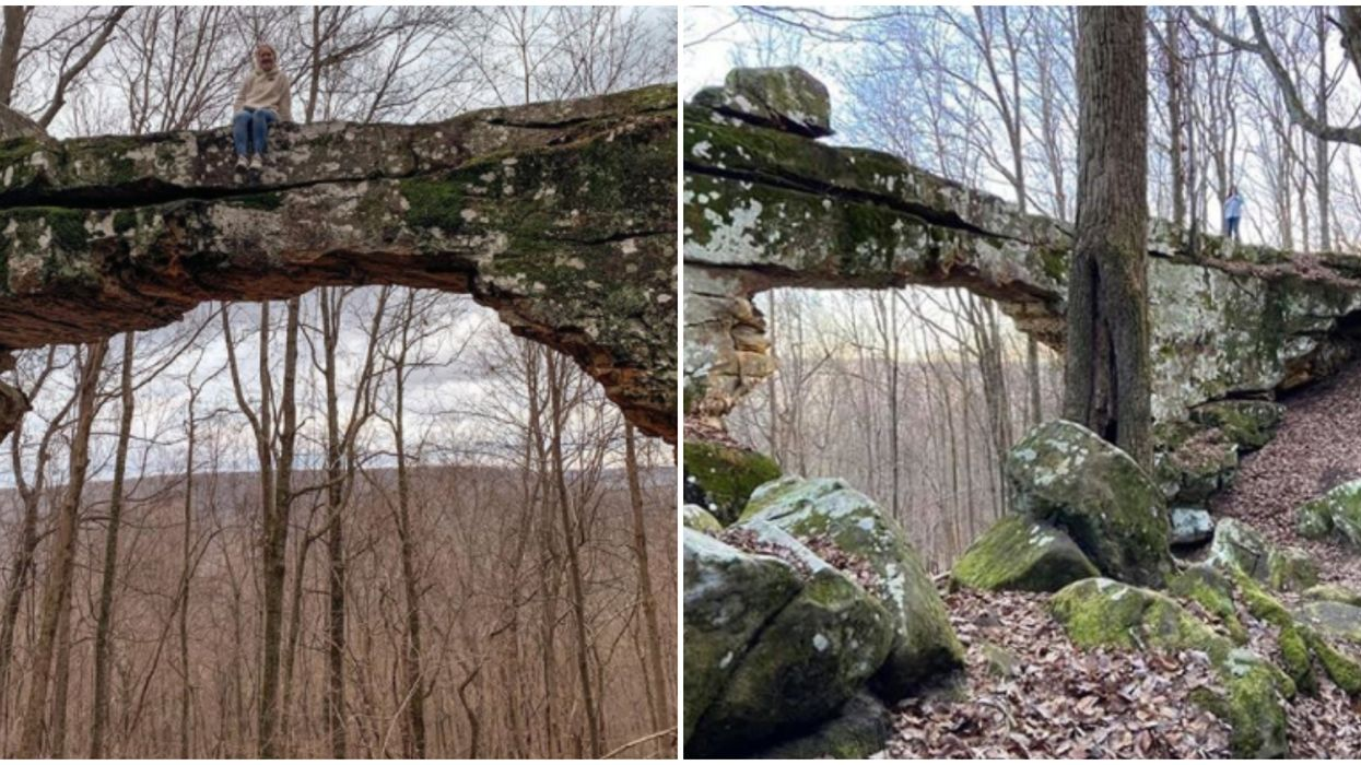 Natural Bridge In Tennessee Can Be Found An Hour Outside Chattanooga
