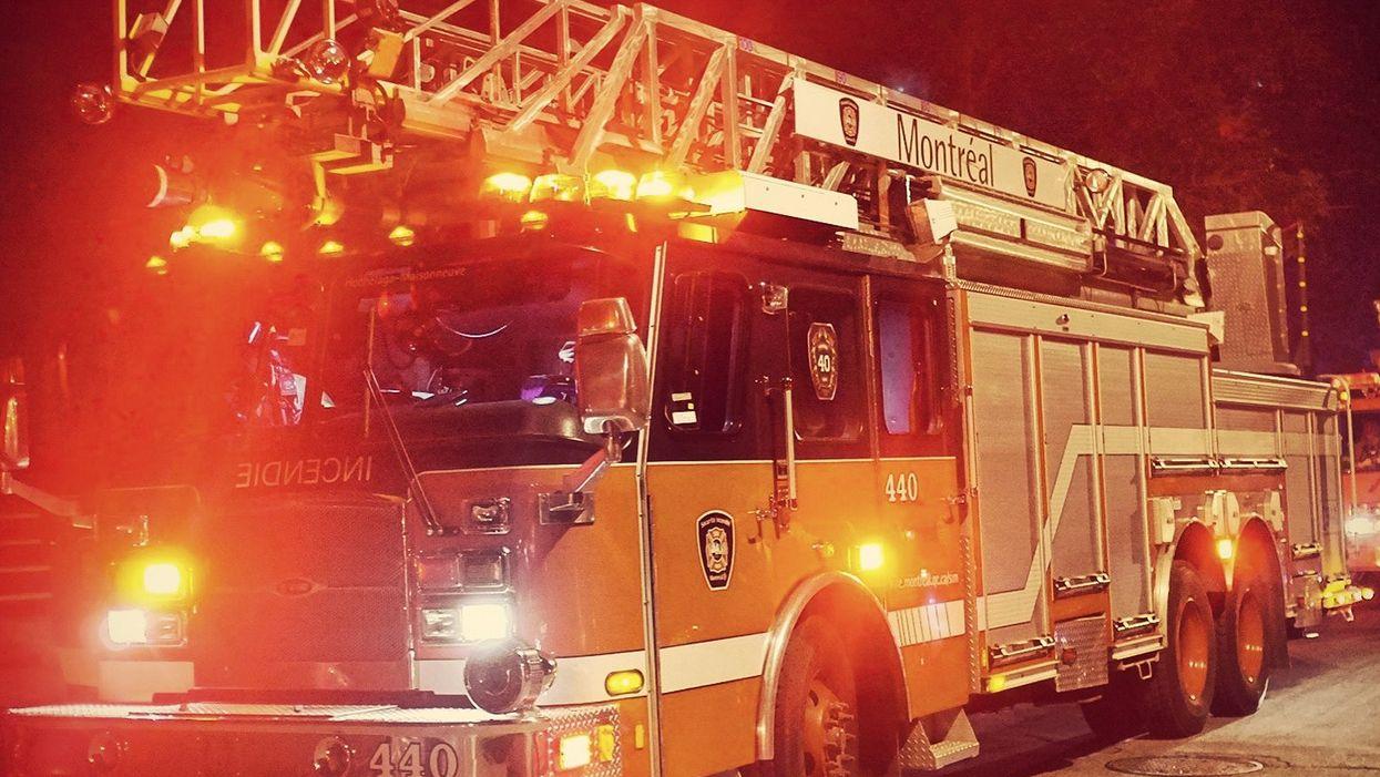 Un incendie ravage l'Académie Sainte-Anne à Montréal et 130 pompiers sont déployés