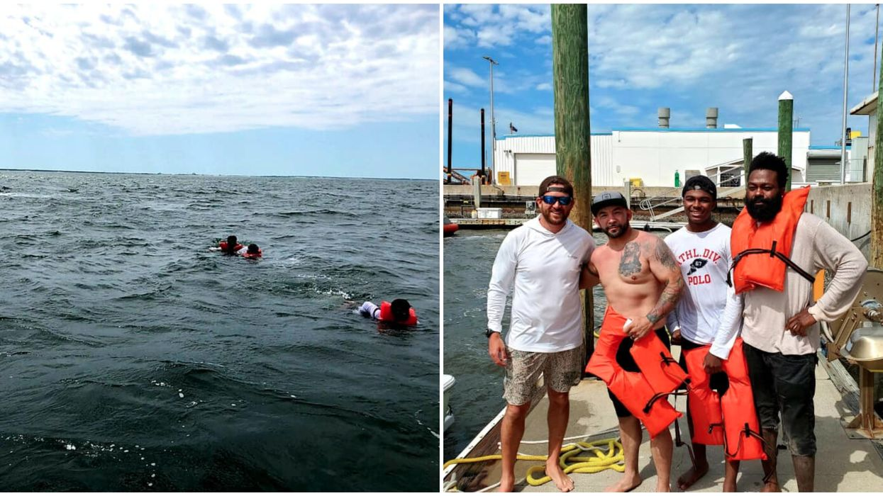 Neptune Beach Off-Duty Officer Rescues Three Boaters After Hearing 'Mayday' Call (Video)