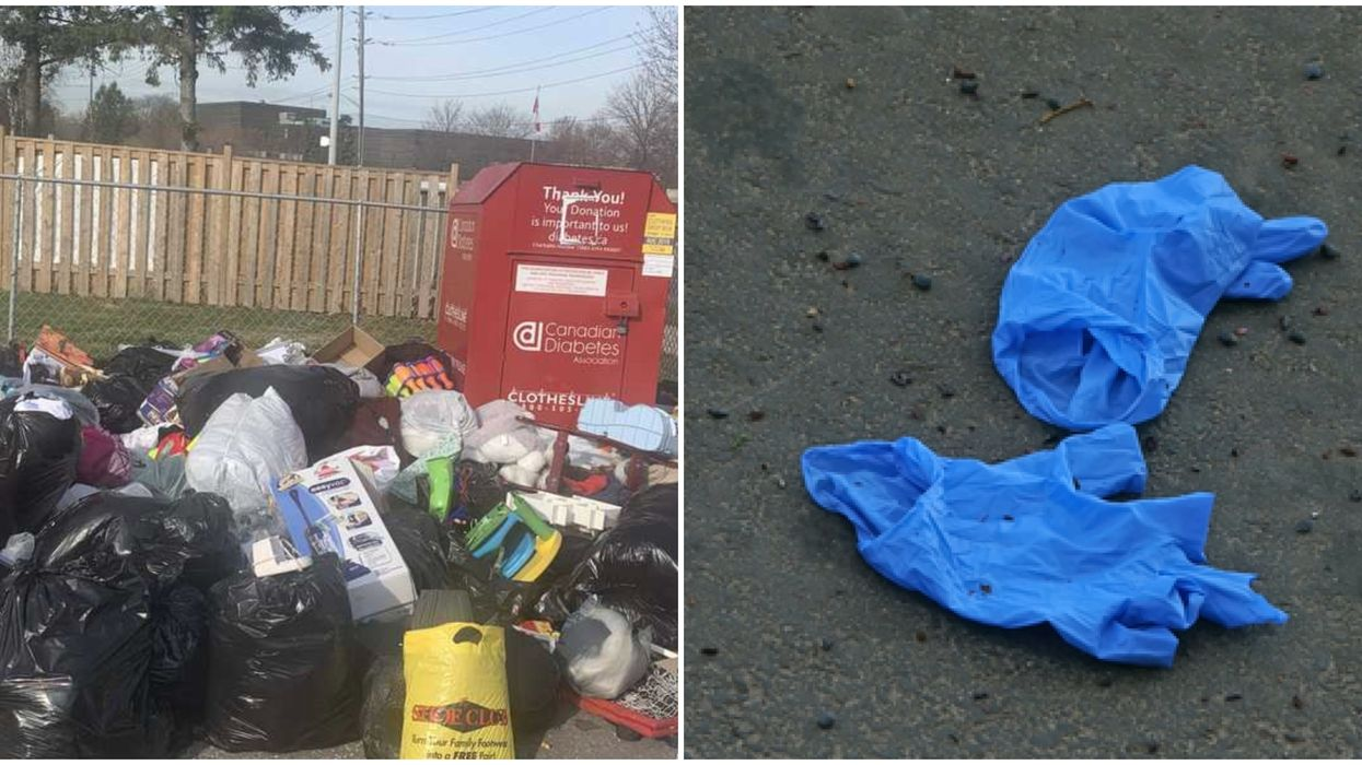 People Keep Sharing Photos Of Stinky Trash Heaps & Scattered PPE In Toronto