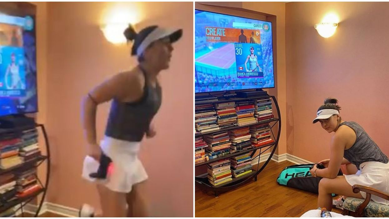 Bianca Andreescu Warming Up To Play Video Games Is Pretty Relatable Right Now