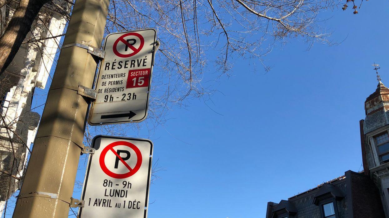 Les restrictions de stationnement sur rue de retour ce 1er mai à Montréal