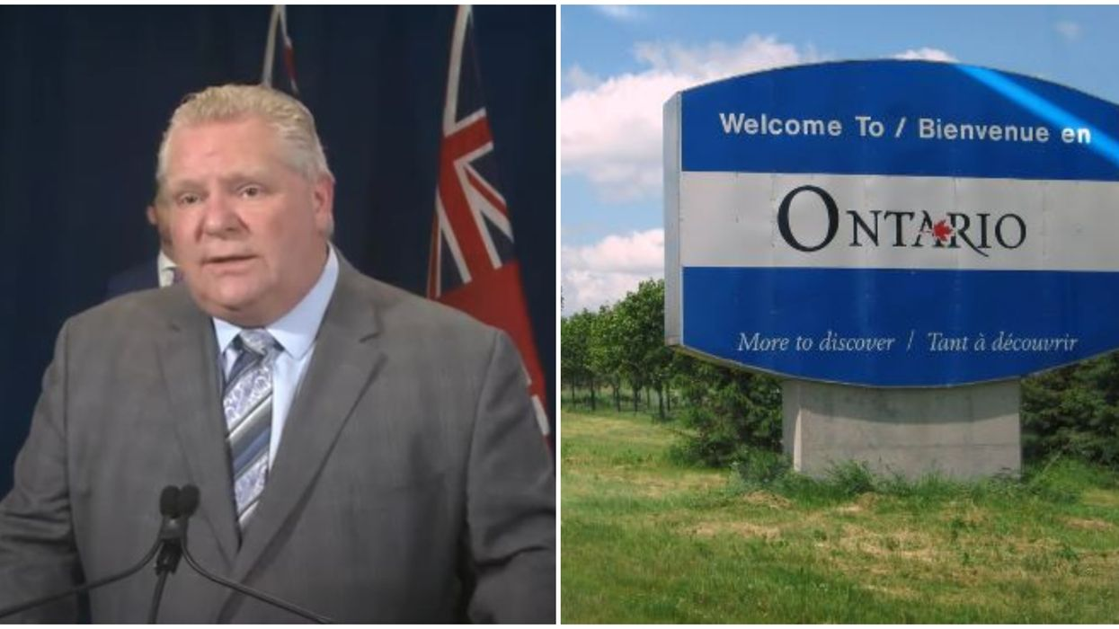 COVID-19 In Ontario: Ford Urges All Non-Ontario Residents To Stay Away