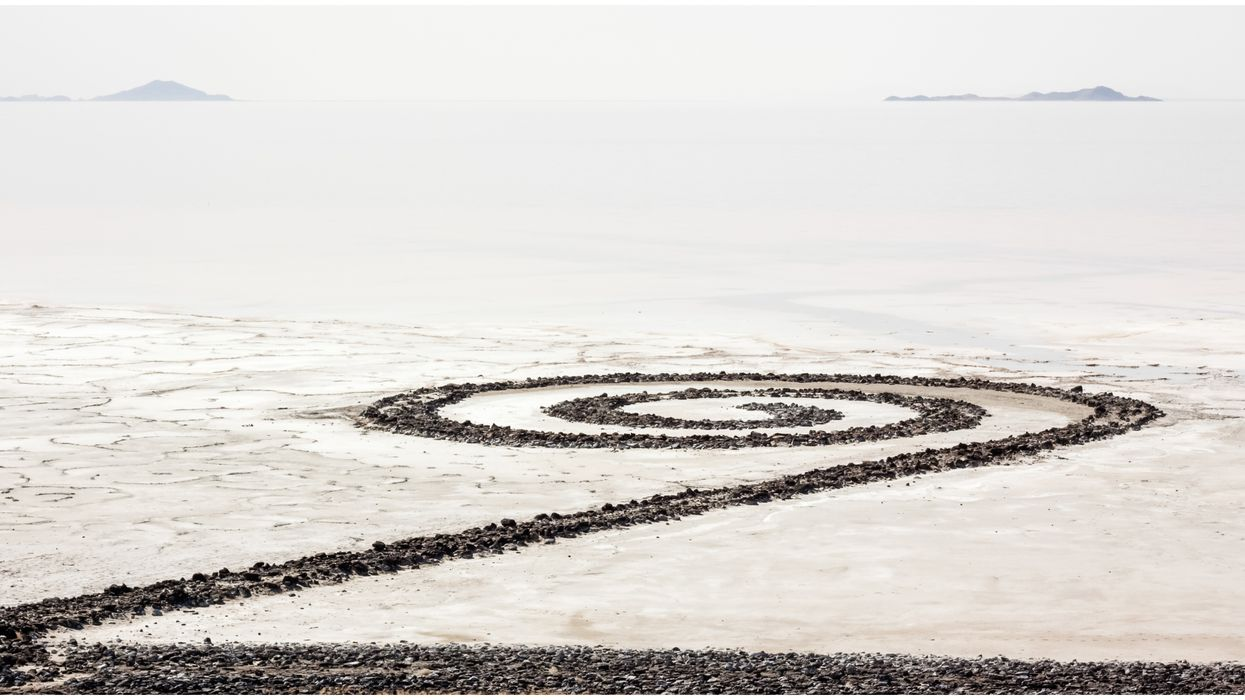 The Spiral Jetty In Utah Is Completely Visible Right Now (PHOTOS)