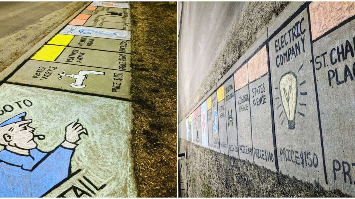 You Can Now Play Life-Size Monopoly On Edmonton's Streets Thanks To Local Artists
