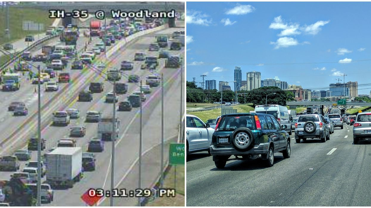 Drivers In Texas Dealing With Traffic The Day Texas Reopens
