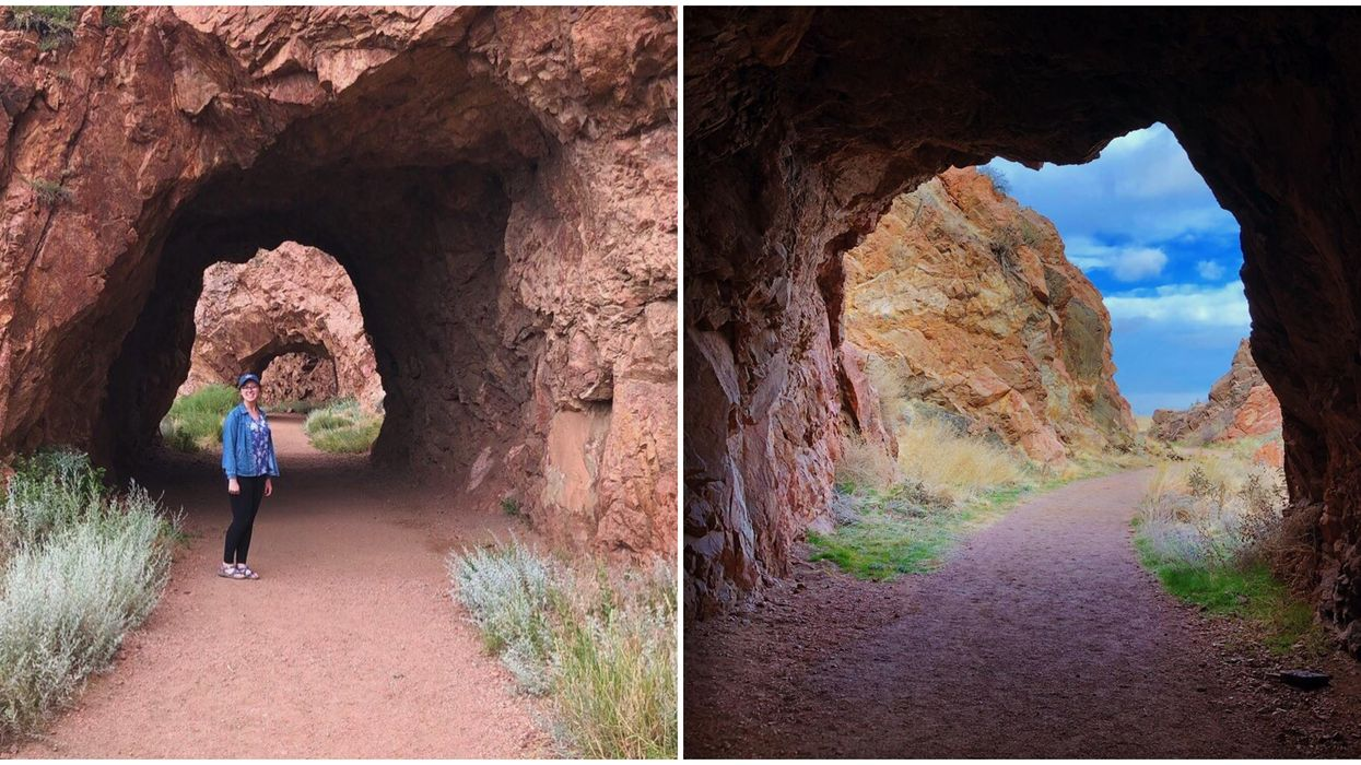 You Can Stroll Through 3 Rock Tunnels Blasted Into A Mountain In Colorado