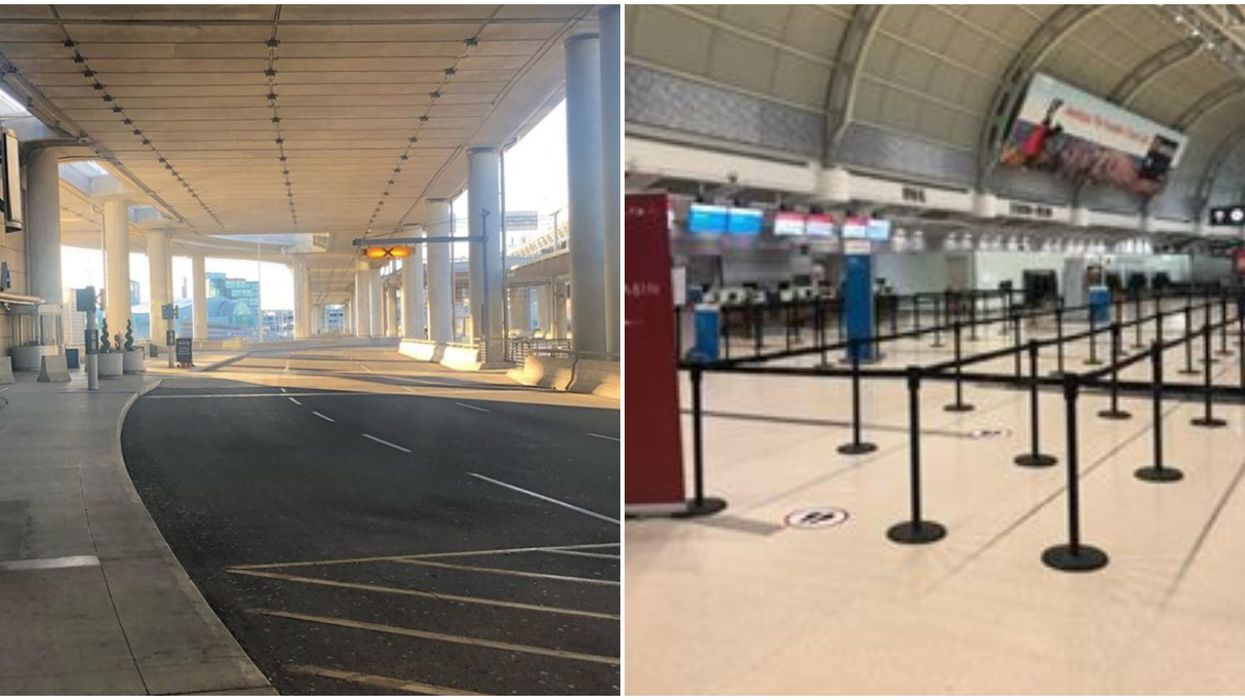 Toronto Pearson Airport Is Freakishly Empty & The List Of Flights Is Absolutely Tiny (PHOTOS)