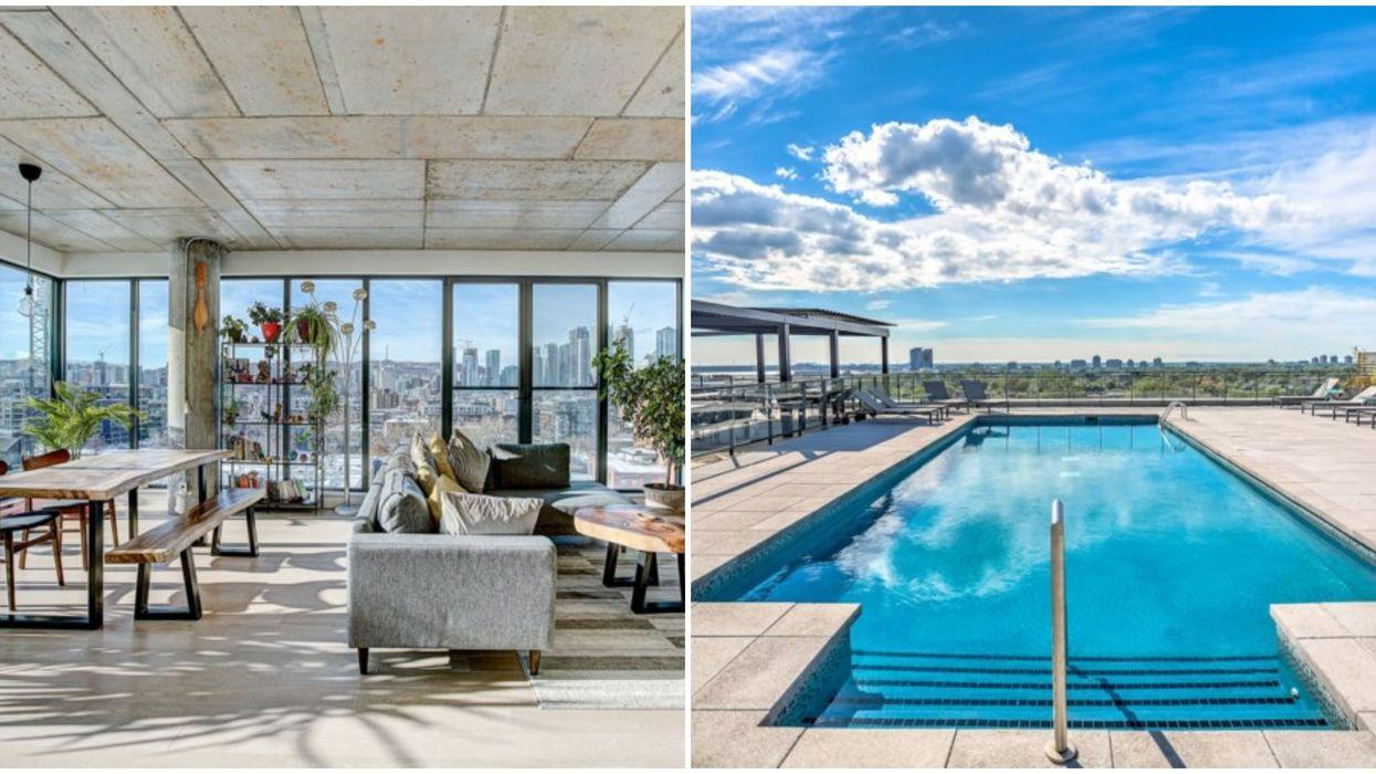 Ce condo à vendre à Montréal avec terrasse et piscine sur le toit est parfait pour l'été