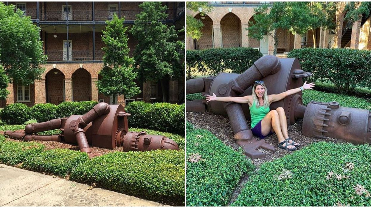 University Of Alabama The Iron Giant May Come To Mind When Visiting This Robot Sculpture