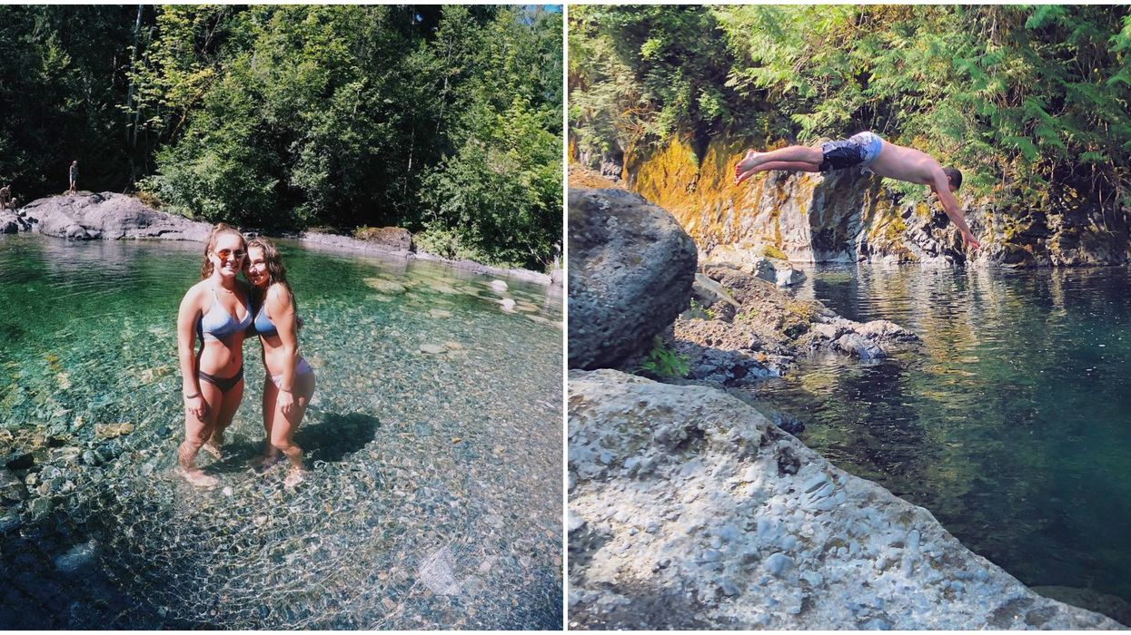 Must-See Swimming Hole In BC Has Crystal-Clear Water & Close To Secret Waterfalls