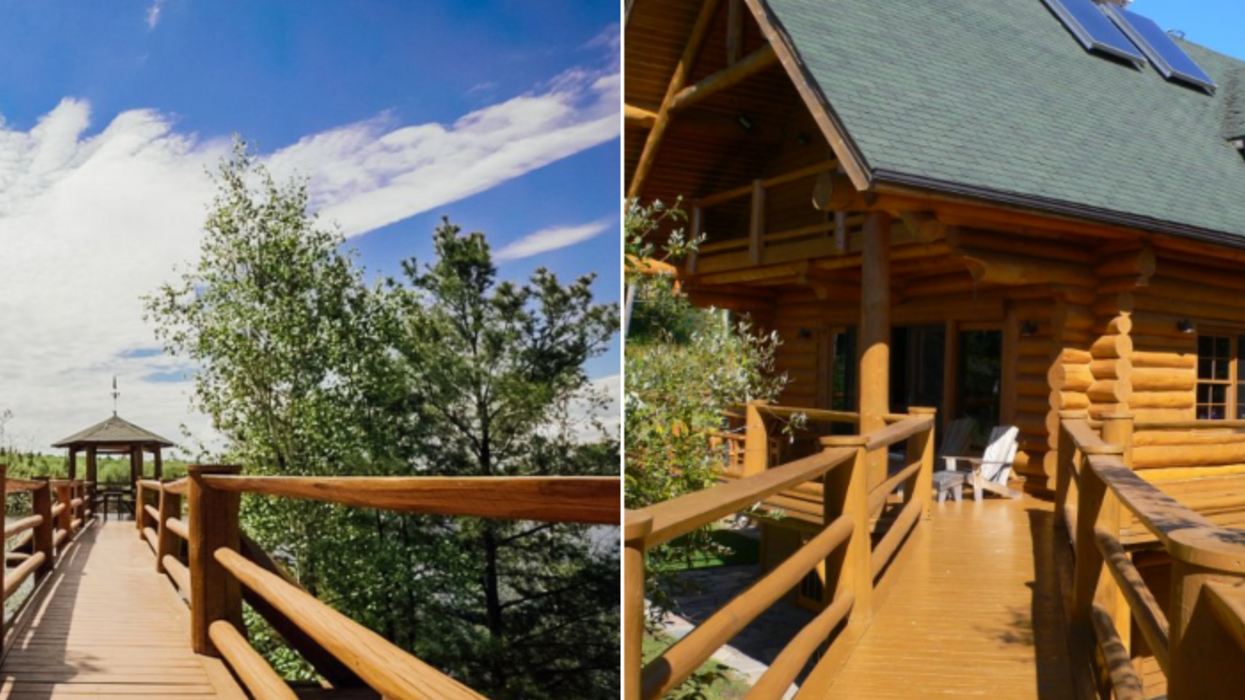 This Log 'Castle' For Sale In Ontario Has Its Own Lookout Tower (PHOTOS)