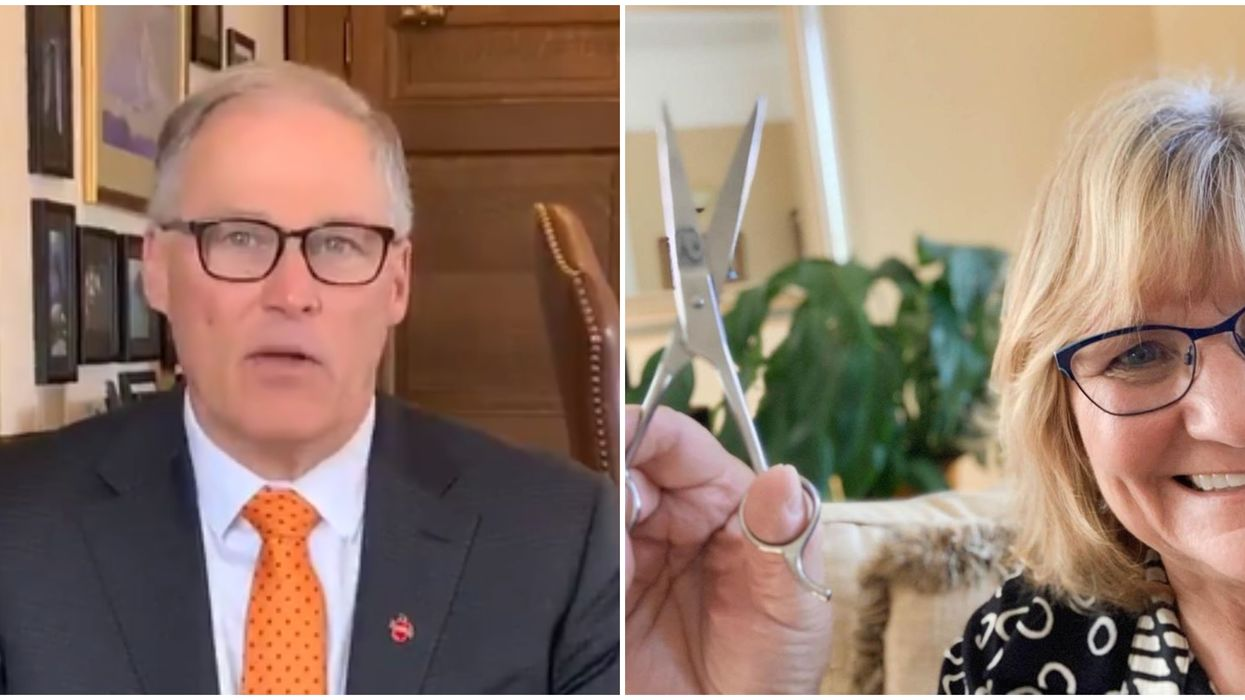 Jay Inslee's Haircuts Are Done By His Wife But People Aren't Buying It  (PHOTOS)