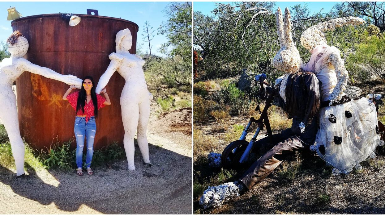 Triangle L Ranch In Arizona Is Home To A Funky Sculpture Park Filled