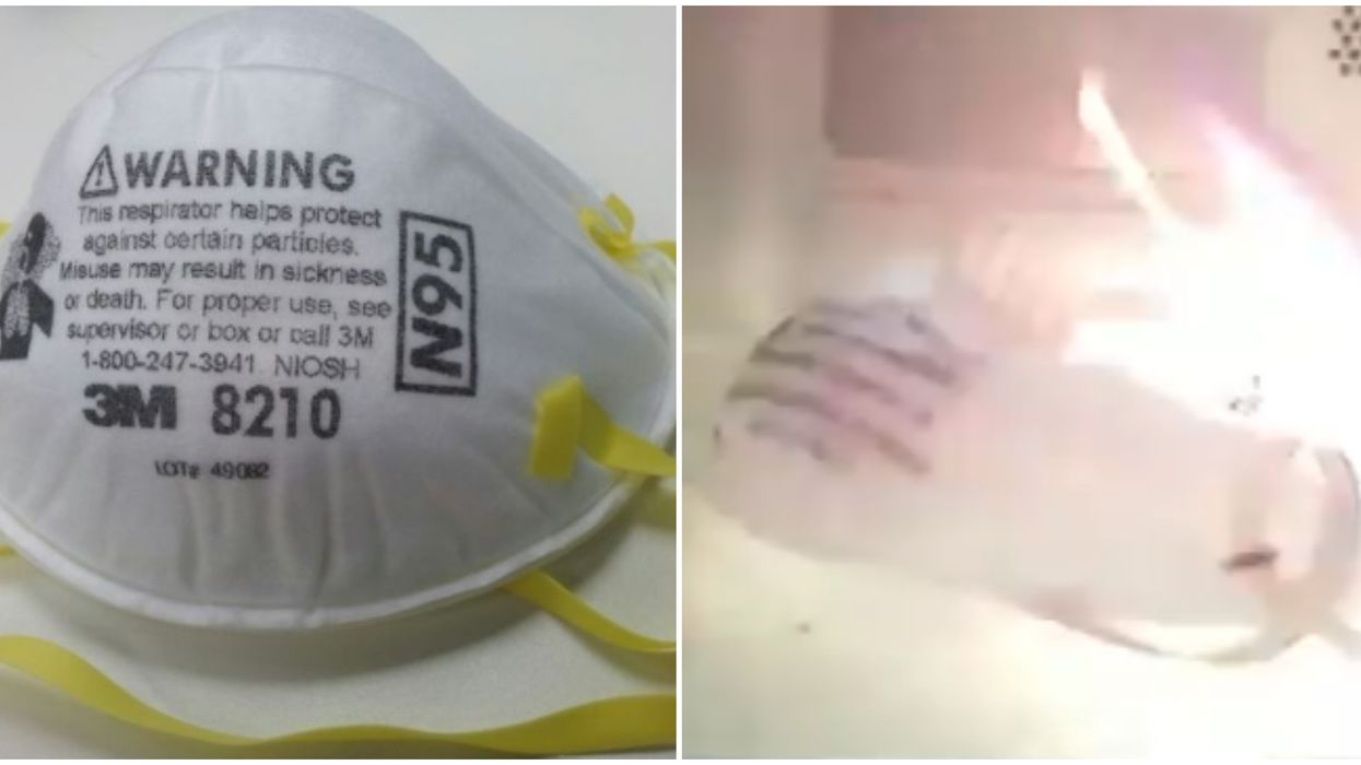 Microwaving Face Masks Causes Quick Fires As Shown In An Ontario Fire Marshal Video