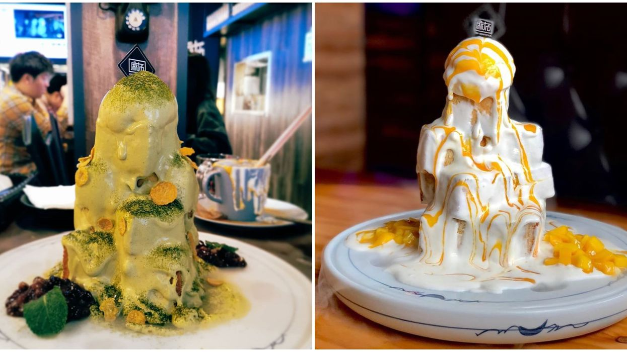 Dessert Towers In Toronto At Mabu Generation Are An Indulgent Colour Explosion