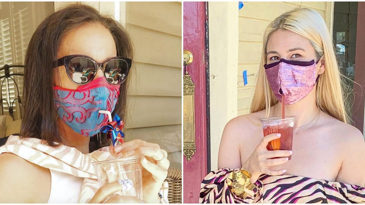 New Orleans Woman Makes Face Masks You Can Sip Cocktails From