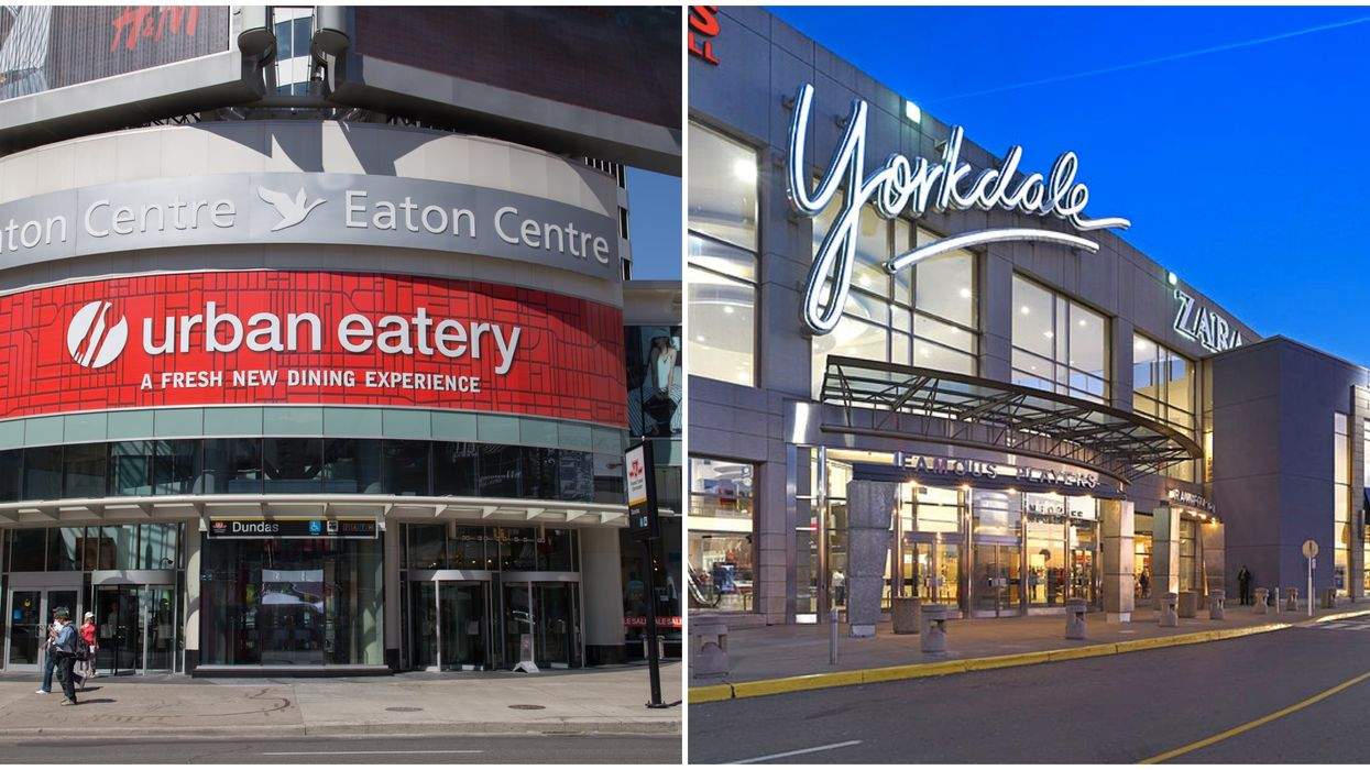 Toronto's Eaton Centre & Yorkdale Are Re-Opening Some Stores This Week