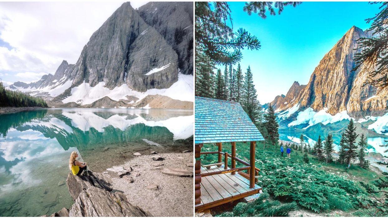 Floe Lake Hike In BC Has Double The Mountain Views Thanks To The Magic Mirror Lake