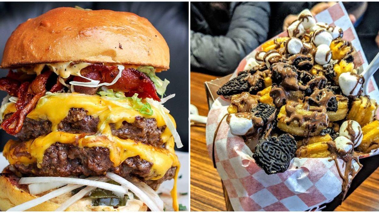 Burger et churritos
