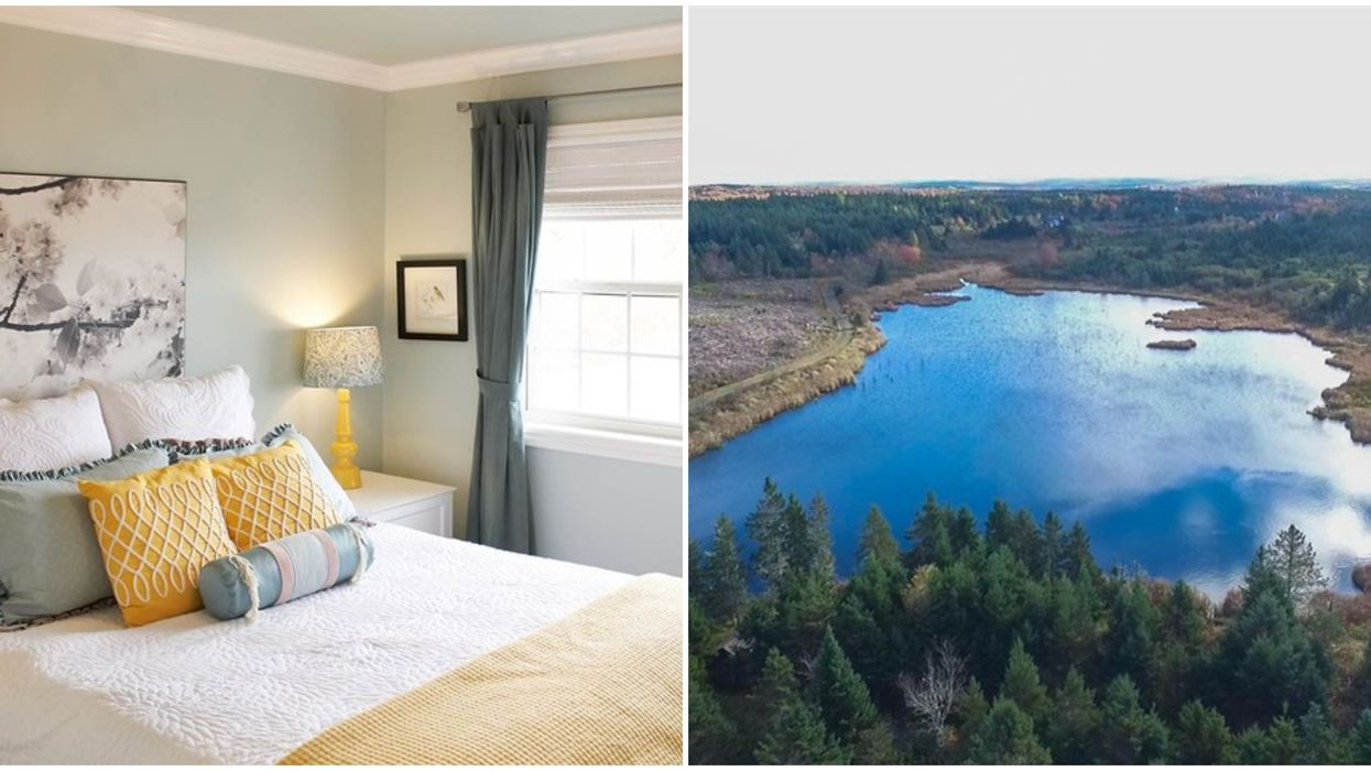 House For Sale In Nova Scotia Has Its Own Private Lake & It's So Blue