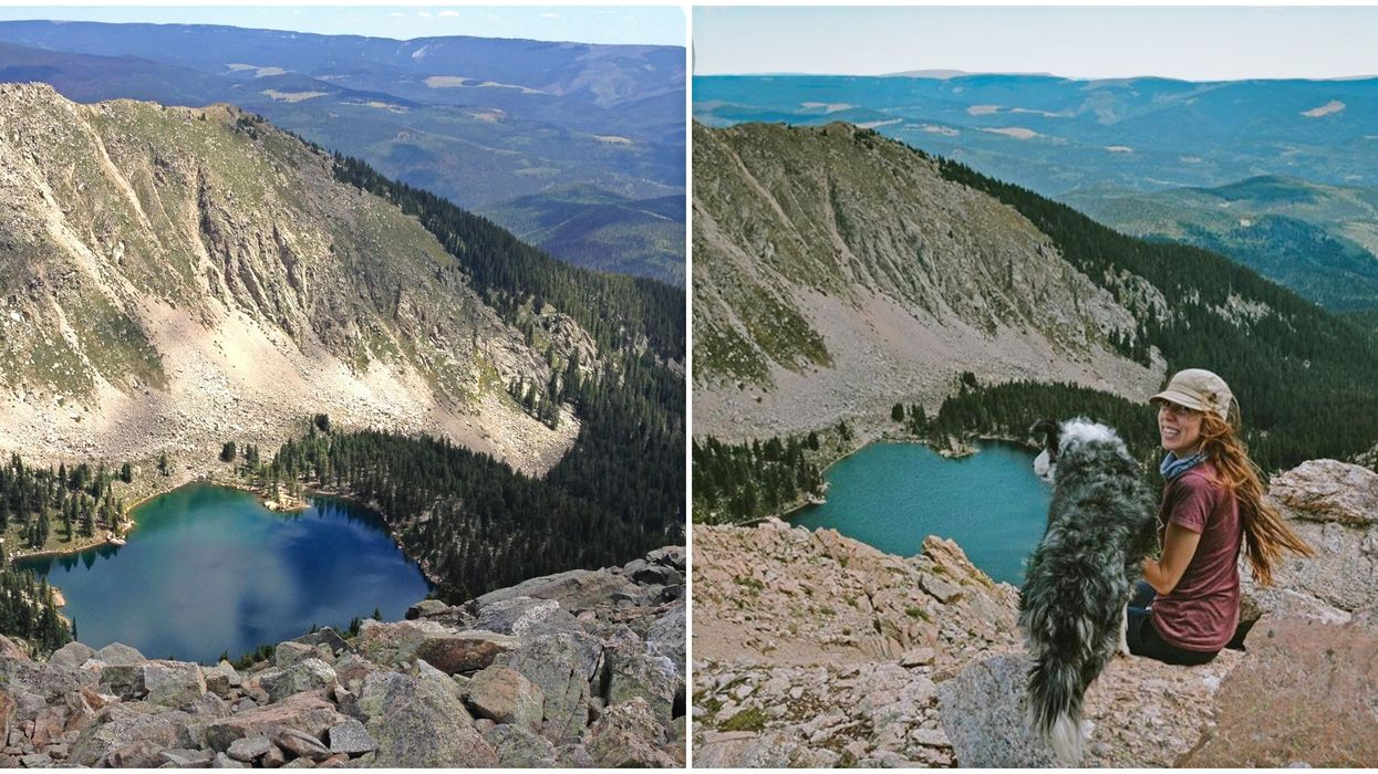 This Blue Alpine Lake In New Mexico Is Hidden Between Towering Mountain Peaks