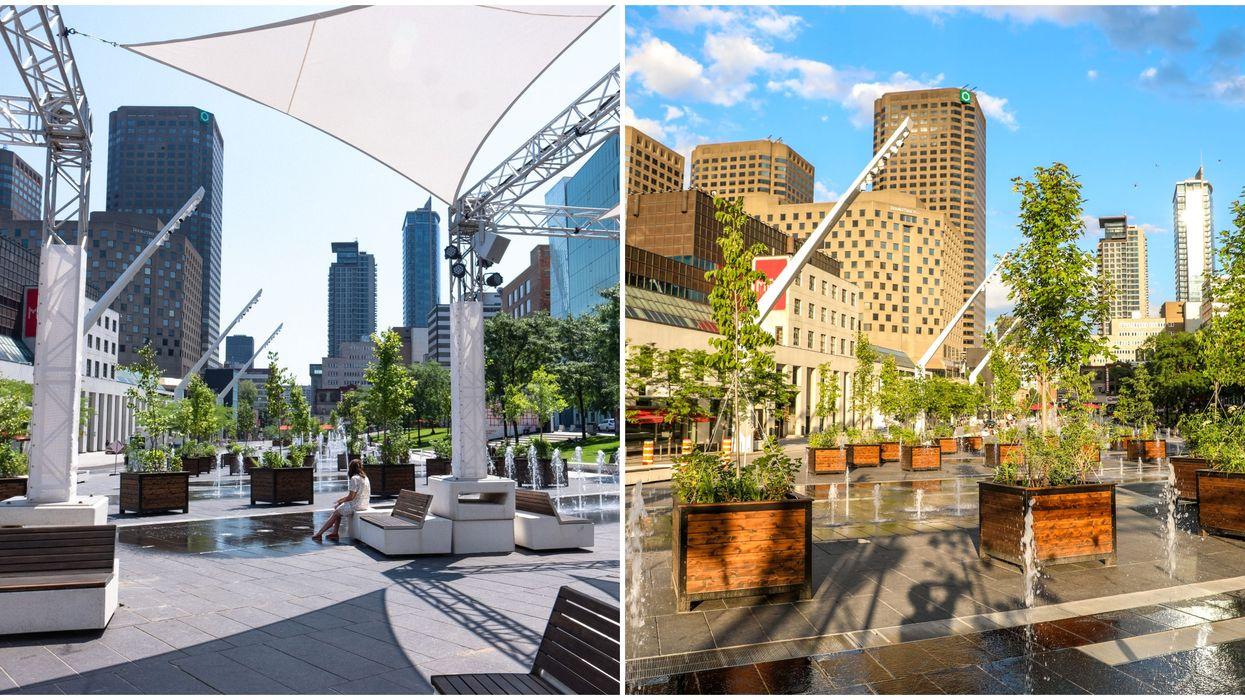 Le Quartier des spectacles se transforme en énorme terrasse verte cette été