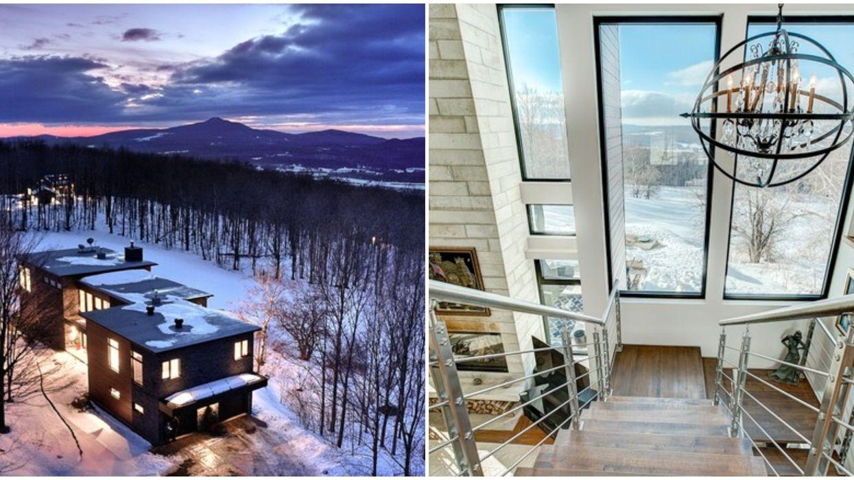 Maison de 1,9 M $ au pied du Mont Sutton offrant une vue digne d'une carte postale