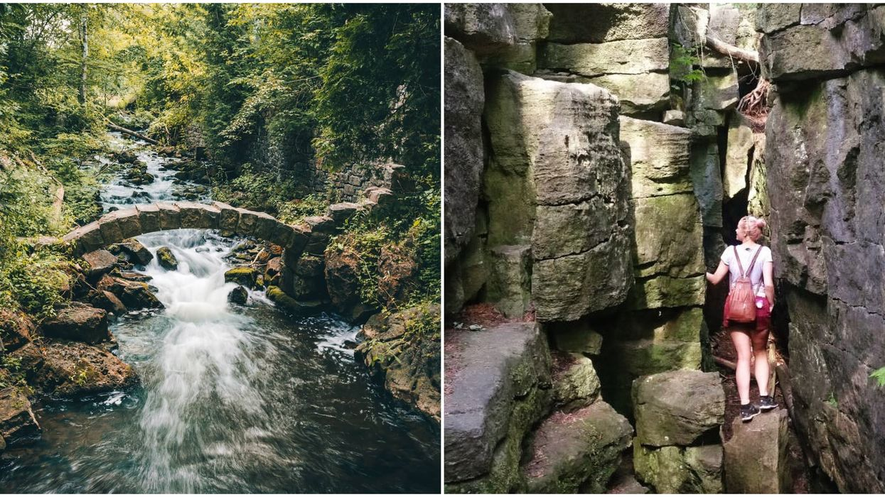 An Ontario Conservation Area Near Toronto Is Filled With Caves And Charming Bridges