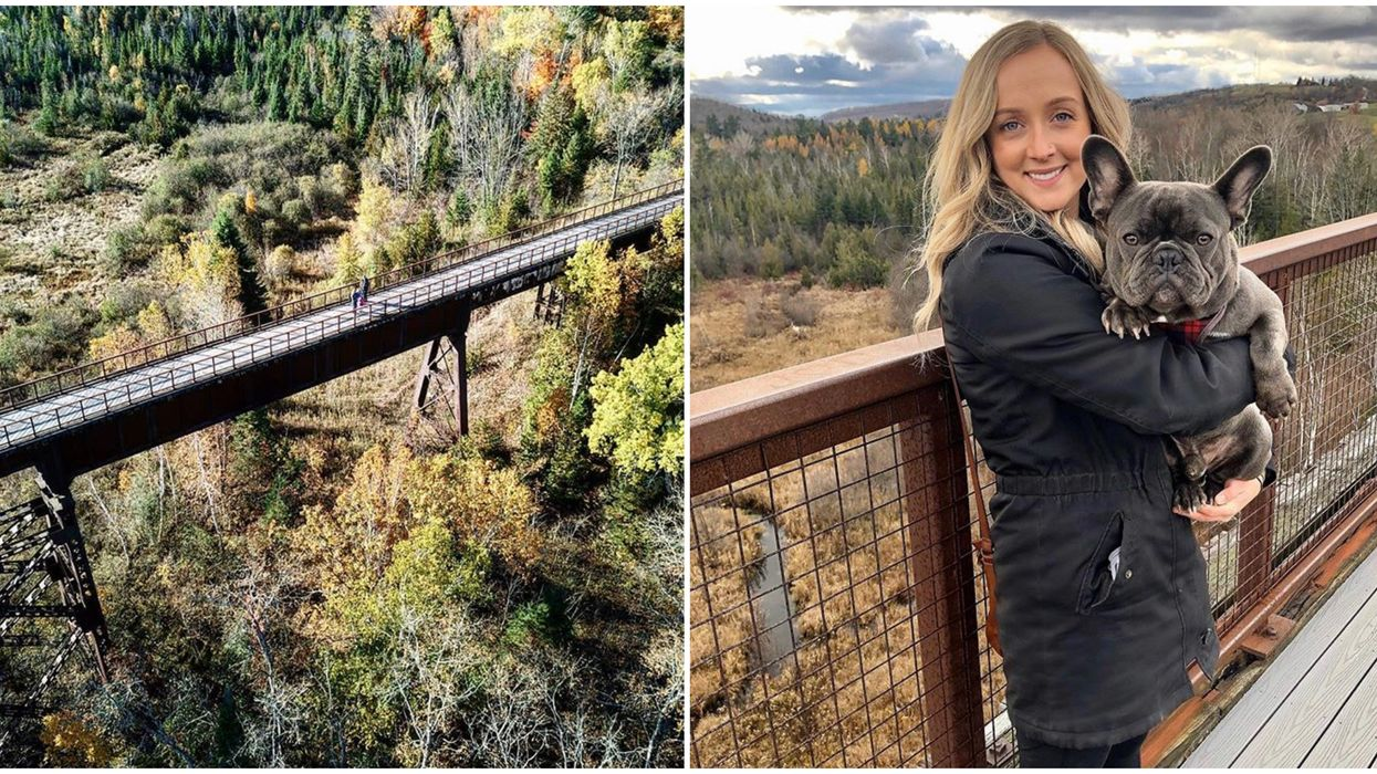 You Can Hike To New Heights On This Towering Trestle Bridge In Ontario