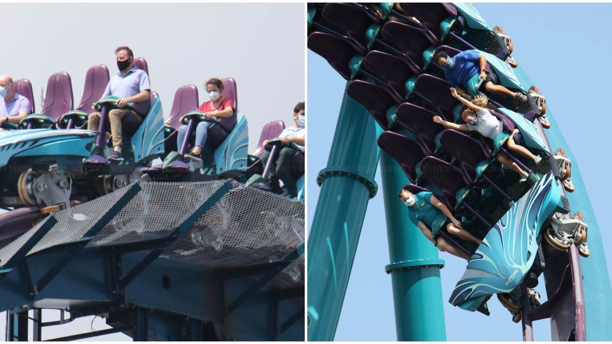 Seaworld Orlando's Mako Roller Coaster Was Spotted With Masked Riders