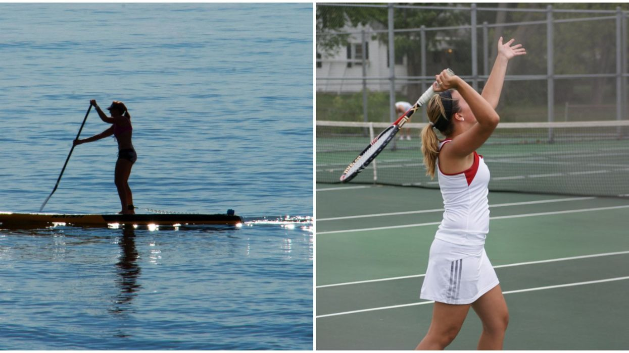 Paddle board et tennis
