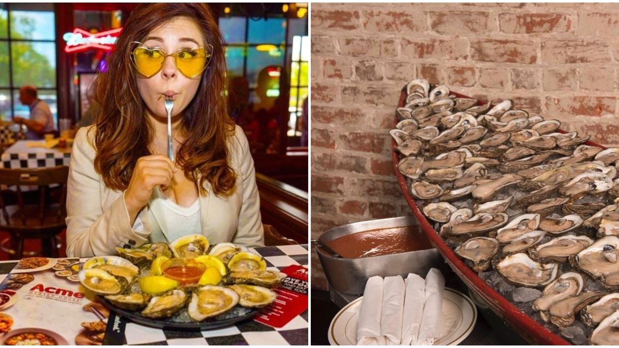 Acme Oyster House In Alabama Food Challenge Includes Downing 15 Oysters In An Hour