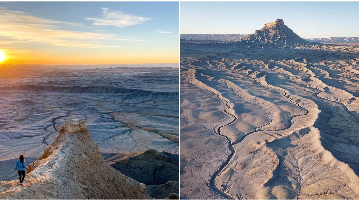 Factory Butte In Utah Is An Alien Formation In The Middle Of The Remote Desert