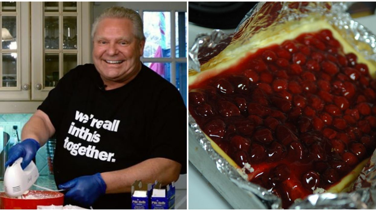 The Doug Ford Cheesecake Challenge Is A Thing Now As Ontarians Bake It At Home