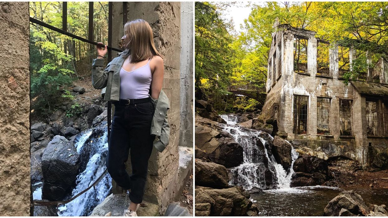 Abandoned Ruins Near Ottawa Feature A Stunning Waterfall For You To Discover