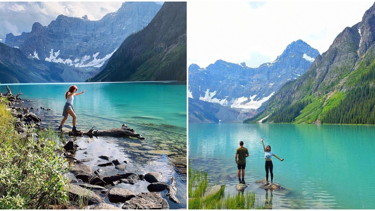Stunning Alberta Day Hike Leads You To A Secret Turquoise Lake Surrounded By Mountains