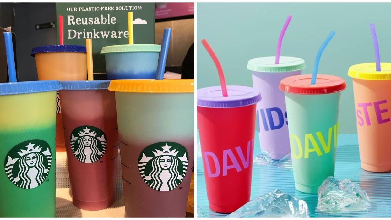 DavidsTea vend des verres qui changent de couleur pour pas mal moins cher que Starbucks