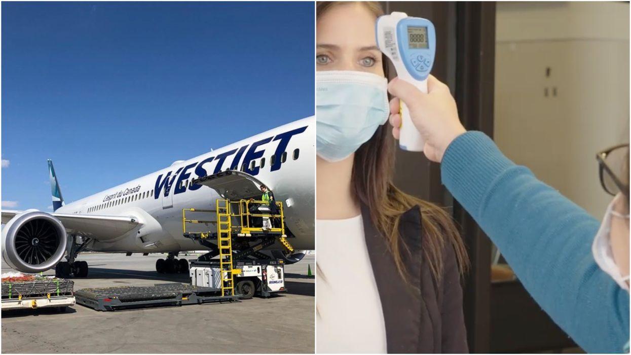 WestJet Passengers Should Expect Temperature Checks & No Snacks On Their Next Flight