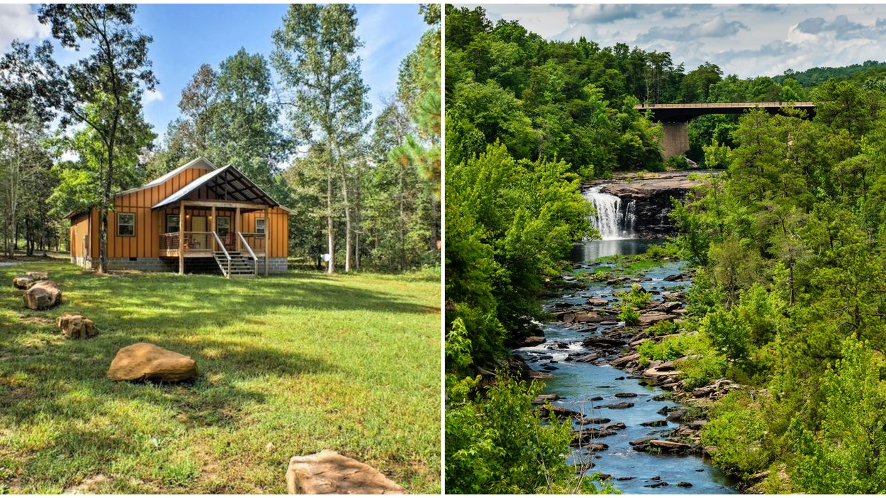 Cheap Airbnb Alabama Rental Cabin Near Waterfalls Is The Perfect Nature Retreat