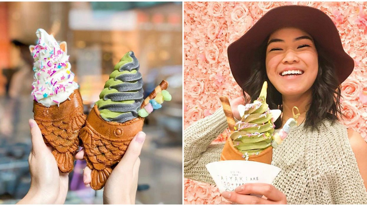 Toronto's Taiyaki NYC Fish Shaped Cones Are Back & It's The Perfect Summer Treat