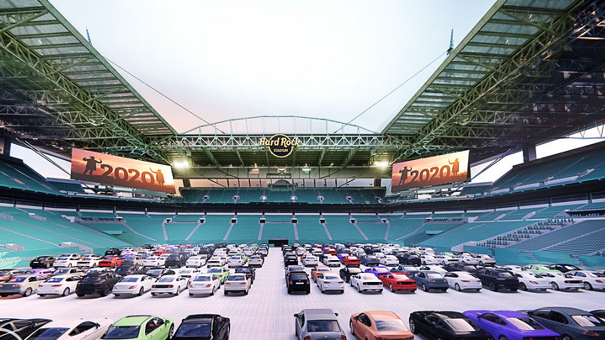 Drive-In Theater At Hard Rock Stadium Will Open This Summer
